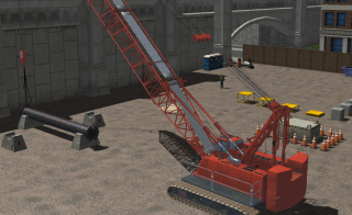 Screenshot from the CM Labs Crawler Crane Simulator Training Pack