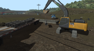 Screenshot from the CM Labs Excavator Simulator Training Pack